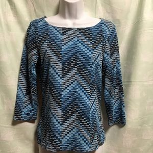 The Limited 3/4 sleeve geometric blouse